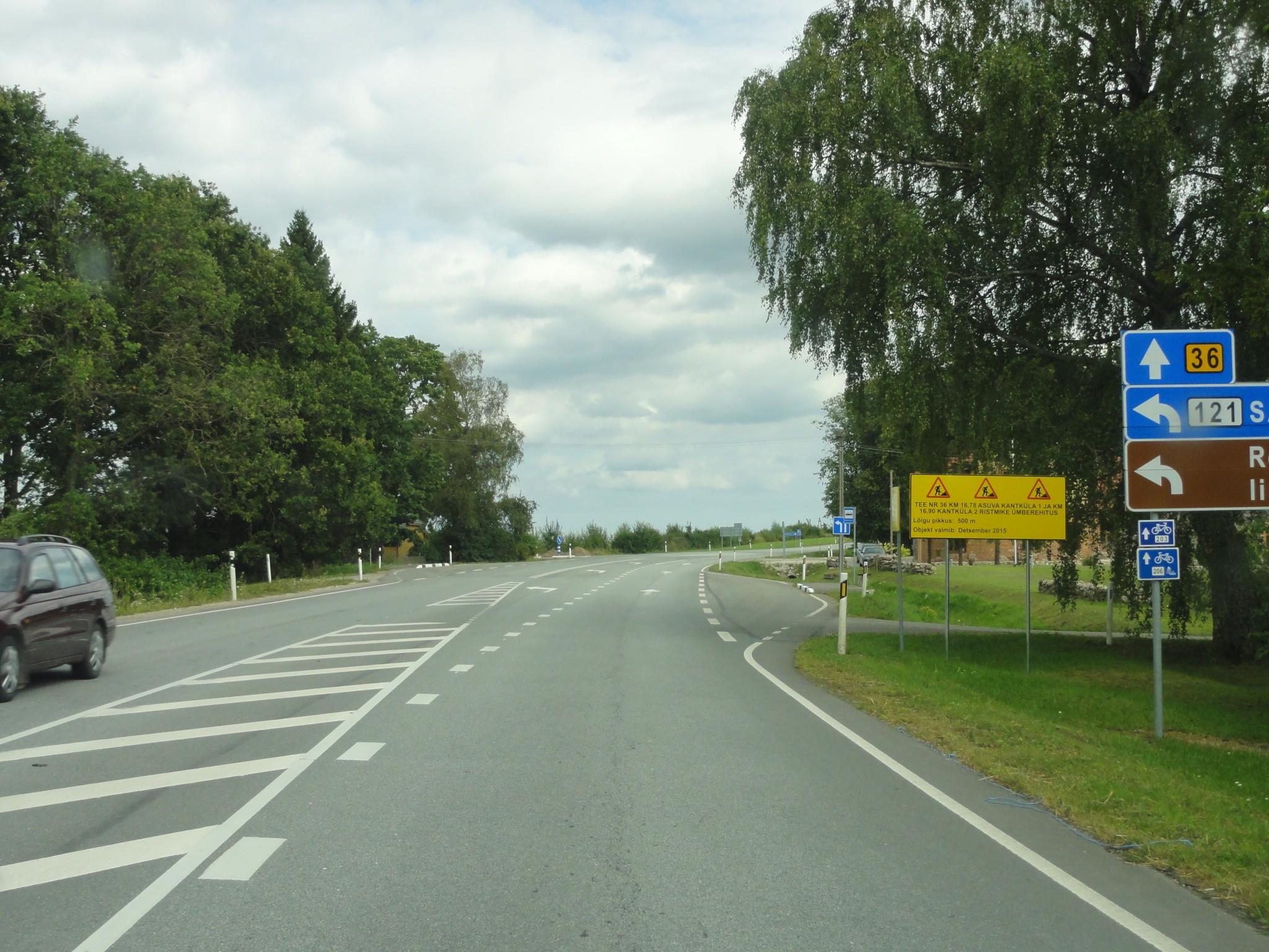 Tugimaantee nr. 36 Jõgeva – Mustvee km 16.78 asuva Kantküla 1 ja km 16.90 Kantküla 2 ristmike ümberehitus ja tugimaantee nr. 36 Jõgeva – Mustvee km 20.45 ja kõrvalmaantee nr 14160 Vaiatu – Tõikvere ning nr. 17192 Simuna – Vaiatu ristmiku piirkonda kergliiklustee ehitus koos projekteerimisega