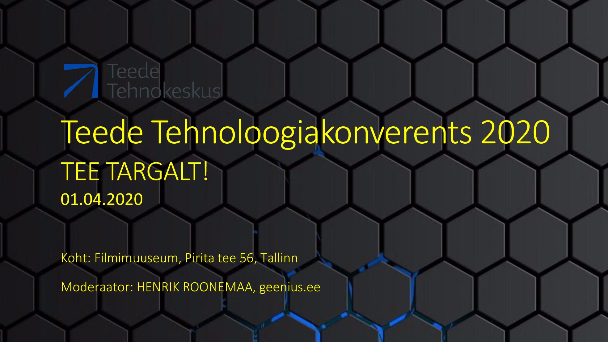 Teede Tehnoloogiakonverents 2020 – LÜKKUB EDASI!